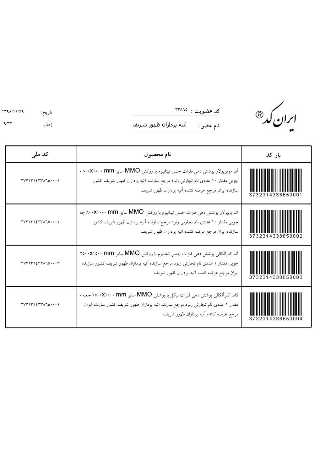 گواهینامه ها و تاییدیه ها